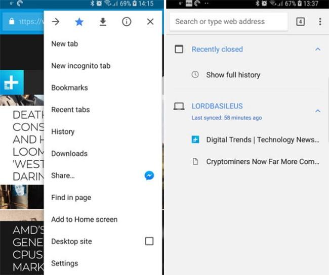 Cách chuyển đường link các trang web từ Google Chrome trên PC sang smartphone Android ảnh 1