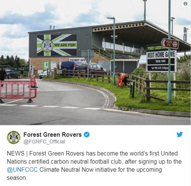 """Forest Green Rovers: Câu lạc bộ bóng đá """"xanh nhất hành tinh"""" ảnh 1"""