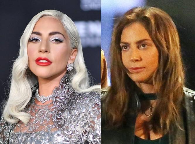 Hình ảnh của Lady Gaga trước và sau khi trang điểm