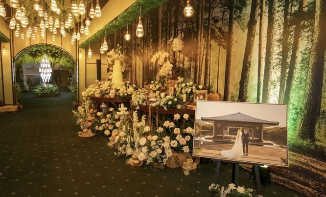 Toàn cảnh đám cưới triệu đô của Đàm Thu Trang và Cường Đô La ảnh 6