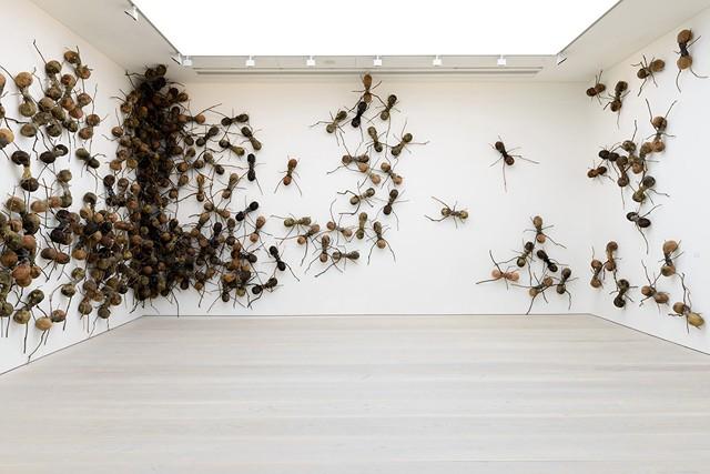 Một số hình ảnh trong bảo tàng Satchii Galery. Ảnh: CNA