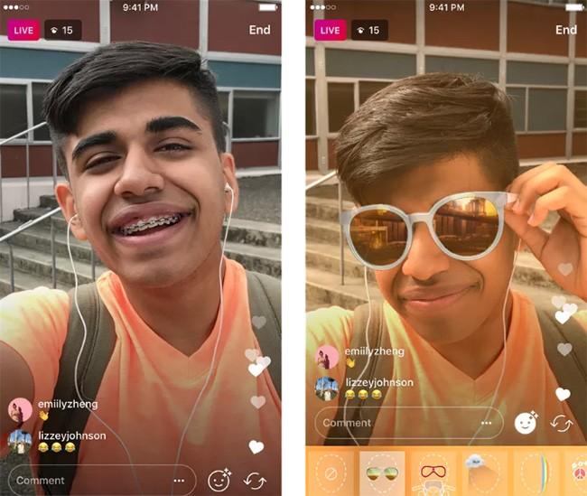 Instagram bổ sung bộ lọc khuôn mặt trên video trực tuyến ảnh 1