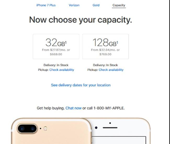"""""""Bắt"""" người dùng mua iPhone 8, Apple """"kết liễu"""" iPhone 7 dung lượng 256 GB ảnh 1"""