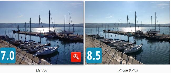 """So sánh camera """"thần thánh"""" của Galaxy Note 8, LG V30, HTC U11 và iPhone 8 Plus ảnh 2"""