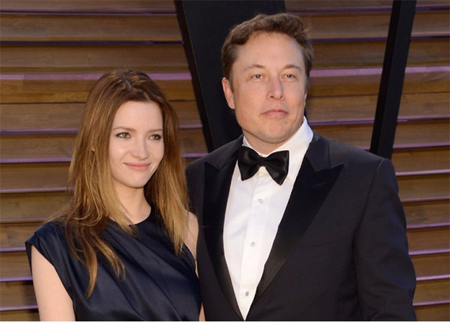 Elon Musk và Talulah Riley. Evan Agostini / Ảnh AP