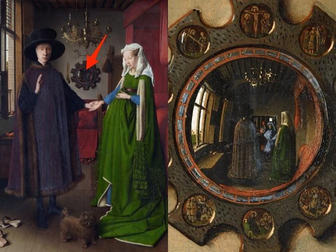 """""""Chân dung Arnolfini"""" chứa chân dung của chính họa sĩ người Hà Lan Jan van Eyck."""