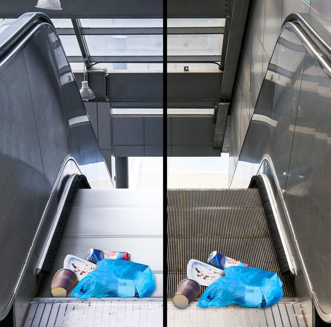 Tại sao các bậc trên thang cuốn lại có các rãnh gờ ? ảnh 2