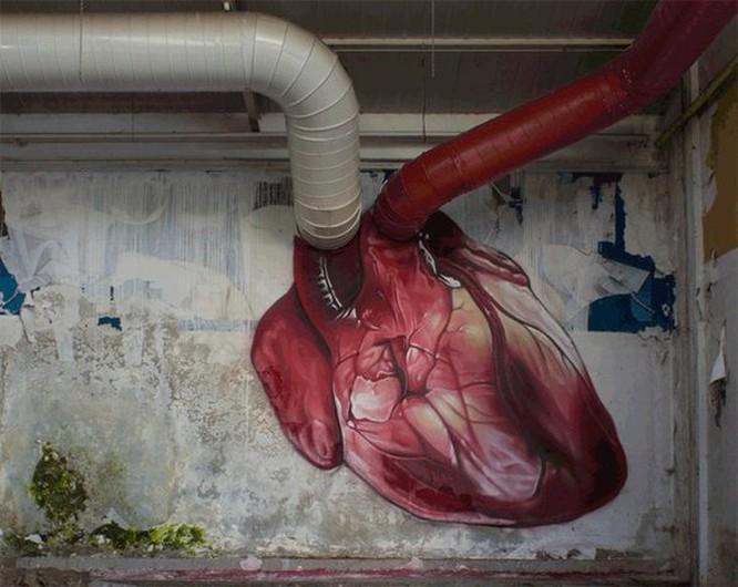 15 tác phẩm nghệ thuật đường phố khiến trái tim ai cũng phải lỡ nhịp ảnh 13
