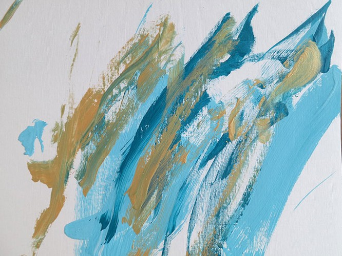 Chú chó Shiba Inu được chủ dạy vẽ tranh, kiếm tới 5000 USD từ tranh vẽ ảnh 10
