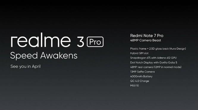 Realme đã so sánh Realme 3 Pro so với Redmi Note 7 Pro. Ảnh: Indianexpress