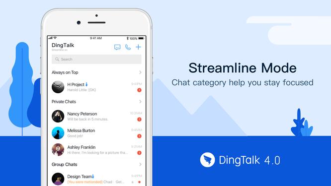 Ứng dụng DingTalk. Ảnh: Medium