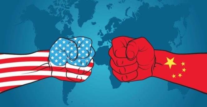 Tranh biếm họa cuộc chiến tranh thương mại Mỹ Trung. Ảnh: Mettis Global