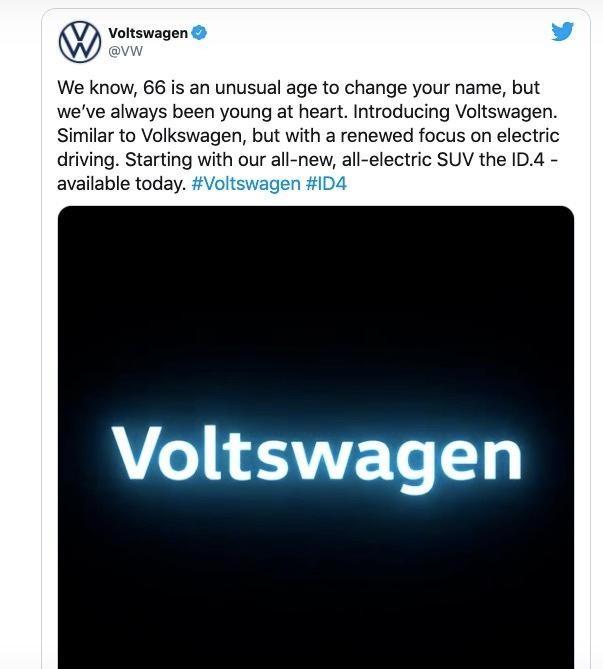 Vụ tiếp thị ngày Cá tháng Tư không thành công: Voltswagen hay Volkswagen? ảnh 1