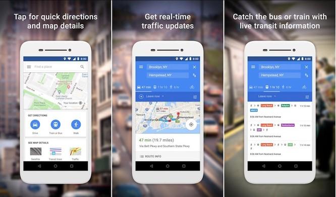 Google phát hành bản đồ rút gọn Google Map Go ảnh 2