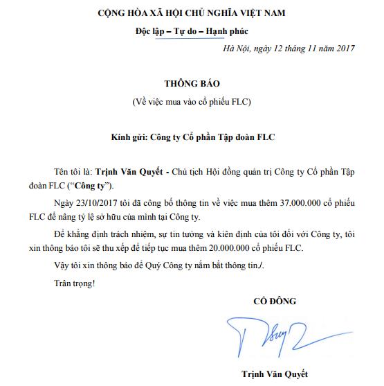 FLC: Đăng ký mua thêm 20 triệu cổ phiếu, ông Trịnh Văn Quyết cố gắng khẳng định điều gì? ảnh 1
