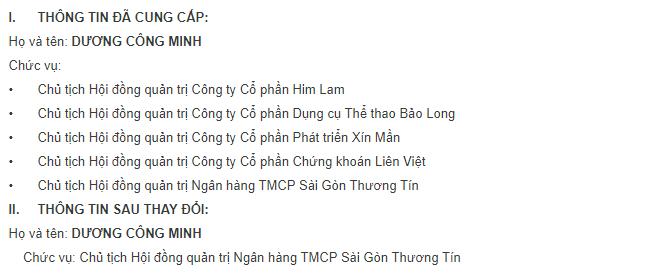 """Ông Dương Công Minh quyết """"đặt trọn niềm tin"""" vào Sacombank ảnh 1"""
