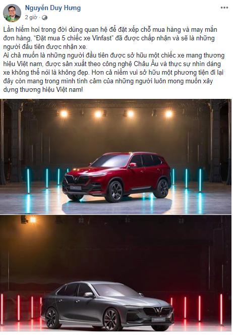 Chưa ra mắt chính thức, Chủ tịch SSI đã đặt mua 5 chiếc xe VinFast ảnh 1