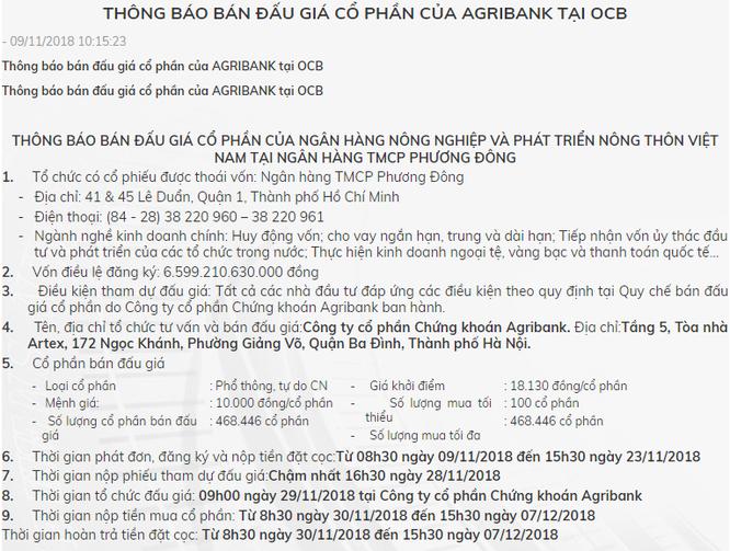 Sau Vietcombank, Agribank cũng muốn thoái vốn khỏi Ngân hàng Phương Đông ảnh 1
