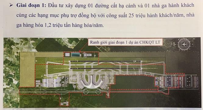 Phương án thiết kế giai doạn 1 CHKQT Long Thành (Ảnh: VGP)