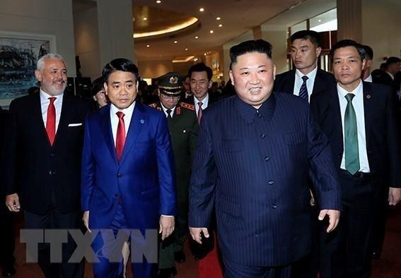 Được chào đón nồng nhiệt, Chủ tịch Triều Tiên Kim Jong-un gửi lời cảm ơn Việt Nam ảnh 4