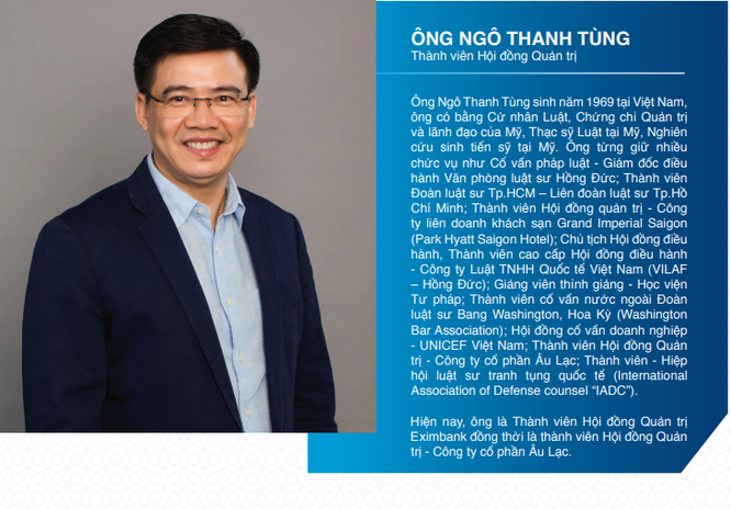 Eximbank: Ông Ngô Thanh Tùng thay ông Lê Minh Quốc thực hiện quyền của Chủ tịch HĐQT từ 8/5 ảnh 1