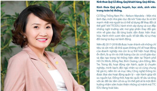 """Cuộc """"đổi ngôi"""" tại TTC Edu sau khi bà Đặng Huỳnh Ức My mua vào 300 tỷ trái phiếu lãi suất 0%/năm ảnh 1"""