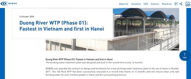VA Tech Wabag và Aone Deutschland AG đã cung cấp những gì cho NMN Sông Đuống? ảnh 2