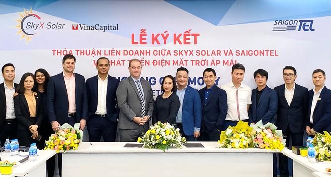 Liên doanh SkyX Solar - SAIGONTEL muốn phát triển hơn 50MW điện mặt trời áp mái ảnh 1