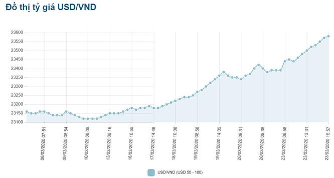Tỷ giá USD/VND leo thang, NHNN sẵn sàng can thiệp bình ổn thị trường ảnh 1