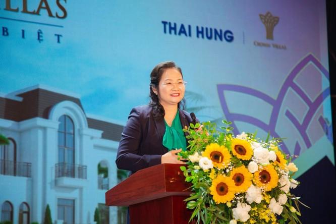 Bà Nguyễn Thị Vinh-TGĐ Công ty, đại diện chủ đầu tư phát biểu tại buổi lễ