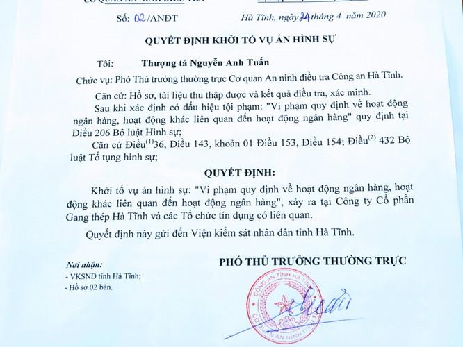 Ngân hàng nào đã rót vốn cho Gang thép Hà Tĩnh? ảnh 1