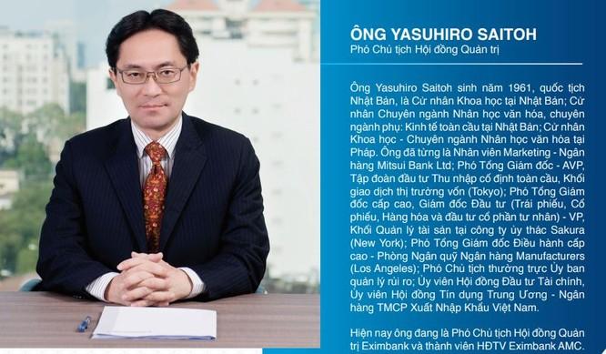 Đừng nhầm, tân Chủ tịch Eximbank Yasuhiro Saitoh không phải là đại diện của SMBC! ảnh 1