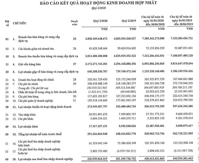 Thoái mảng logistics, Gelex báo lãi 327 tỷ đồng Quý 2/2020 ảnh 1
