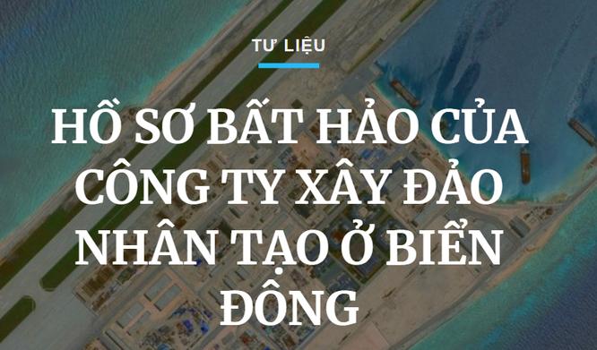 Hồ sơ bất hảo của công ty xây đảo nhân tạo ở Biển Đông ảnh 1