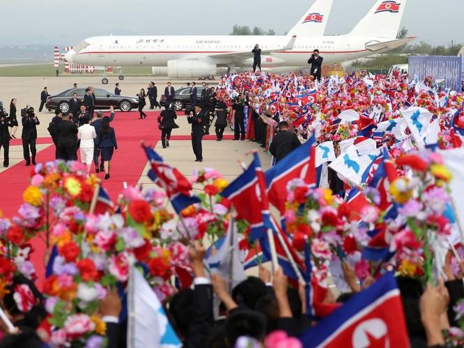 Bất ngờ trong lễ đón Tổng thống Moon Jae In tại Bình Nhưỡng ảnh 9
