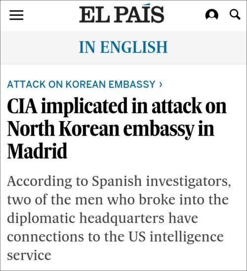 CIA tập kích sứ quán Triều Tiên tại Madrid để cướp tài liệu về cuộc gặp Donald Trump – Kim Jong Un ở Hà Nội? ảnh 2