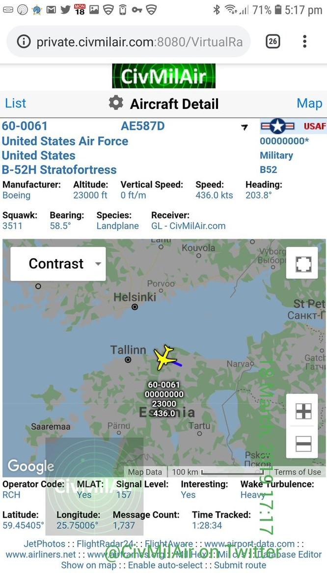 """Mỹ ồ ạt triển khai 6 """"Pháo đài bay"""" B-52 tới châu Âu để đối phó Nga ảnh 2"""