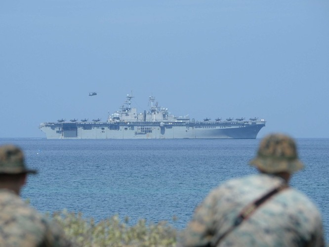 Mỹ và Philippines diễn tập phối hợp tác chiến chiếm đảo tại Texas ảnh 1