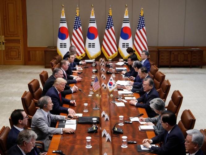 Hình ảnh cuộc gặp lịch sử Donald Trump – Kim Jong Un tại Khu phi quân sự Hàn – Triều ảnh 9