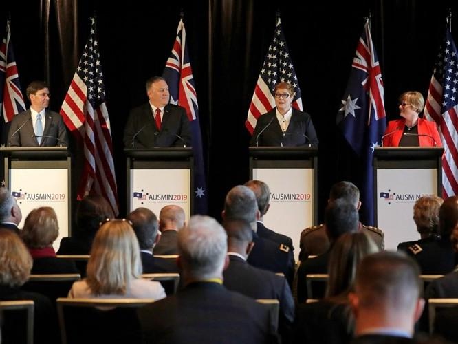 Các Bộ trưởng Ngoại giao, Quốc phòng Mỹ và Australia lên án Trung Quốc quân sự hóa Biển Đông, bành trướng trong khu vực ảnh 1