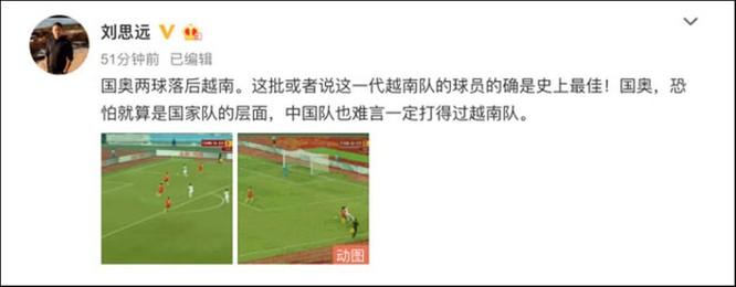 Dư luận Trung Quốc nổi sóng vì đội tuyển Olympic Trung Quốc thua trắng đội U22 Việt Nam ảnh 8