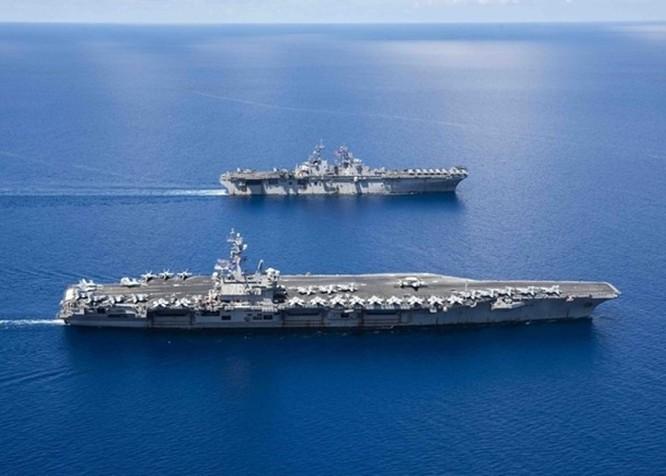 Hải quân Mỹ tập trận rầm rộ ở Biển Đông ảnh 1