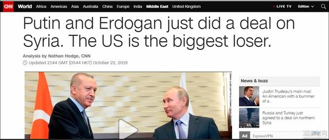 Nga và Thổ Nhĩ Kỳ ký thỏa thuận về Syria, Mỹ ngậm đắng nuốt cay ảnh 3