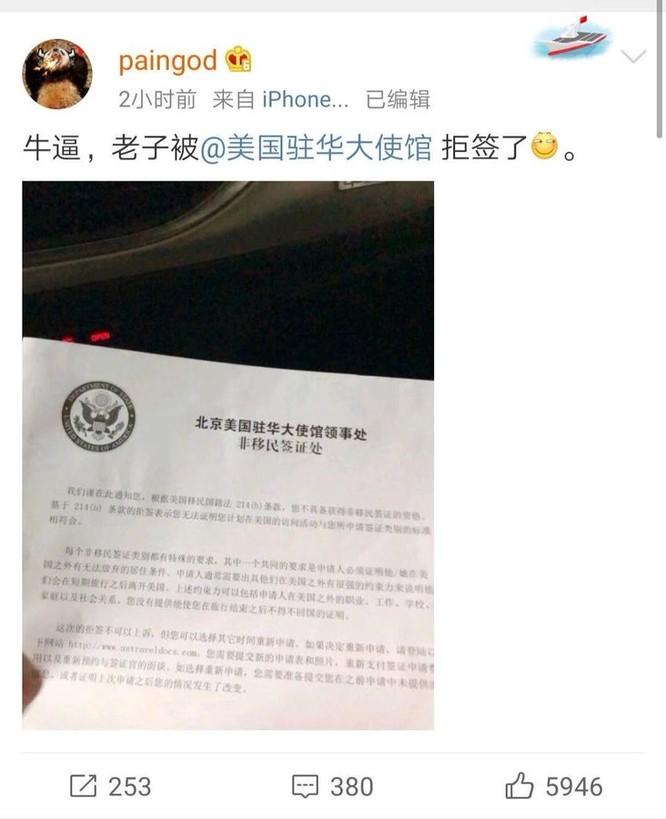 Mỹ ra tay thực thi Luật Dân chủ và nhân quyền Hồng Kông, từ chối cho quan chức Thời báo Hoàn cầu Trung Quốc nhập cảnh ảnh 1