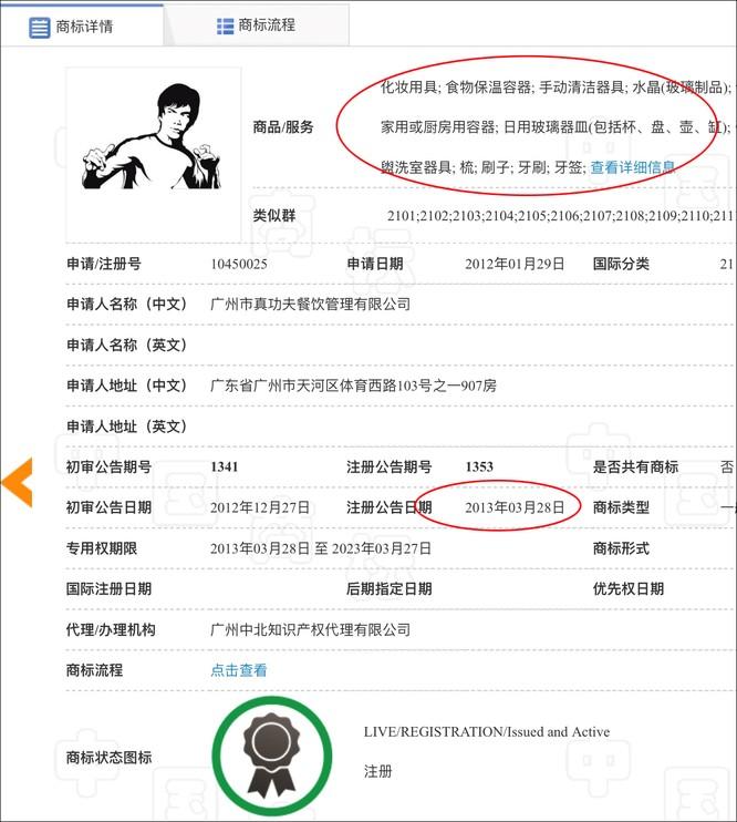 Con gái Lý Tiểu Long kiện hãng đồ ăn nhanh hàng đầu Trung Quốc xâm phạm bản quyền hình ảnh cha và đòi bồi thường ảnh 4
