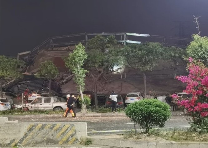 Sập khách sạn dùng làm nơi cách ly người nghi nhiễm COVID-19 ở Phúc Kiến, khoảng 70 người bị chôn vùi ảnh 4
