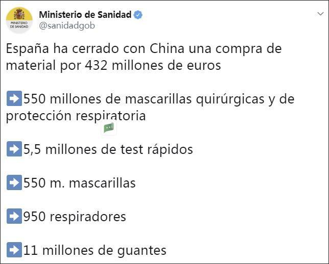 Xôn xao vụ bê bối Tây Ban Nha mua phải lô sản phẩm bộ kit kém chất lượng của Trung Quốc ảnh 2
