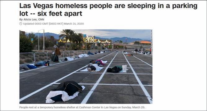 Người vô gia cư cách ly nằm đất trên bãi đỗ xe – hình ảnh khiến dân chúng Mỹ bất bình ảnh 1
