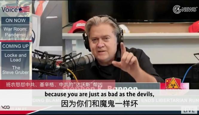Vì sao Đài Truyền hình Trung Quốc (CCTV) giận dữ chửi mắng ông Steve Bannon? ảnh 3