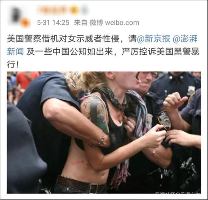 Tin giả về tình hình biểu tình ở Mỹ tràn lan trên mạng Trung Quốc ảnh 1